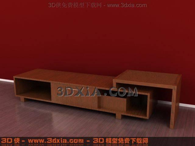 电视柜3D模型下载-3DMAX837