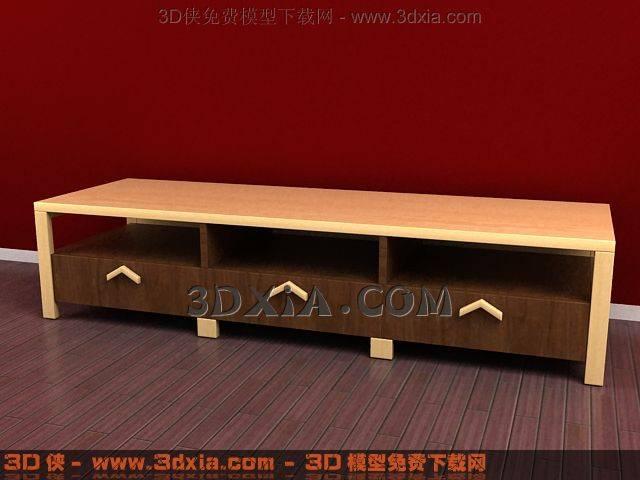 电视柜3D模型下载-3DMAX85