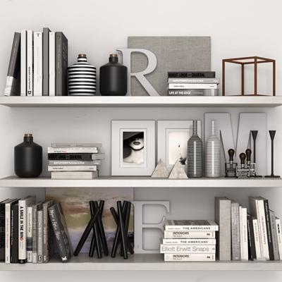 现代层板装饰架 现代层板 墙面展示架 书籍 书架 盆栽 绿植 摆件 陈设 墙饰 工艺品