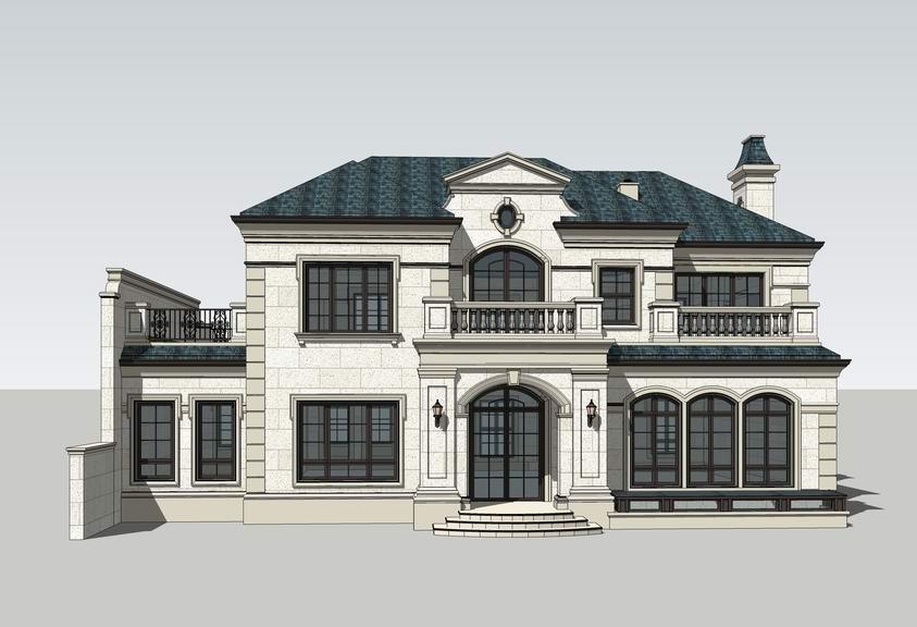 法式独栋别墅SU模型