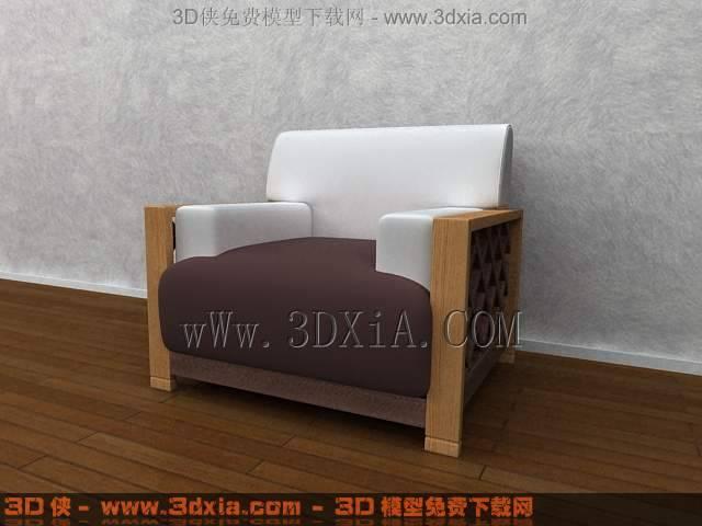 单人沙发3D模型下载-3DMAX8-11