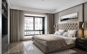 现代轻奢卧室主人房3D模型