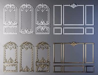 欧式石膏线条组合 欧式古典墙饰 石膏线 线脚 花样线条 简欧雕花 雕花 石膏线条 欧式线条