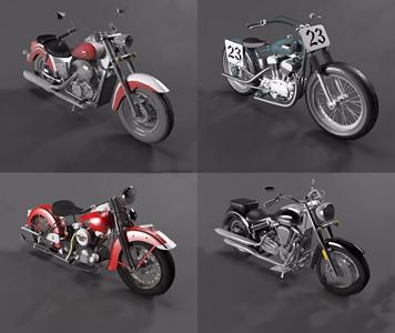 现代摩托车组合 现代其他器材 摩托车 机车 摩托车组合
