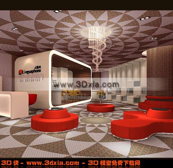 装修华丽的休闲酒吧3D模型