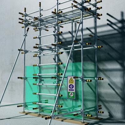 现代建筑钢管脚手架十字扣件组合3D模型