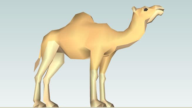 Dromedary Camel(成人) 阿拉伯骆驼 动物 家居物品 椅子 狗