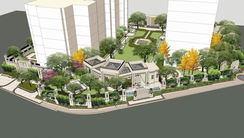 欧式庭院别墅SU模型