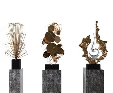 现代抽象金属摆设 现代雕刻 抽象雕塑