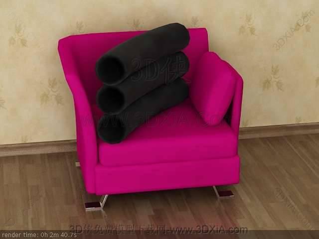 单人沙发3D模型下载-版本3D8-b29