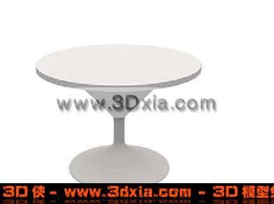 3D漂亮的圓形桌子模型下載