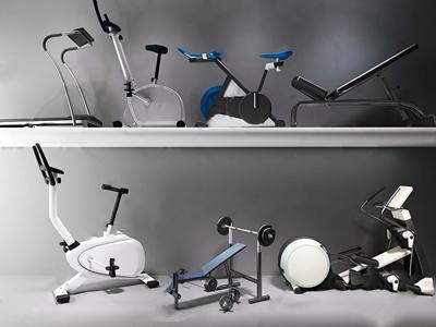 现代健身器材跑步机 现代体娱器材 健身器材 跑步机