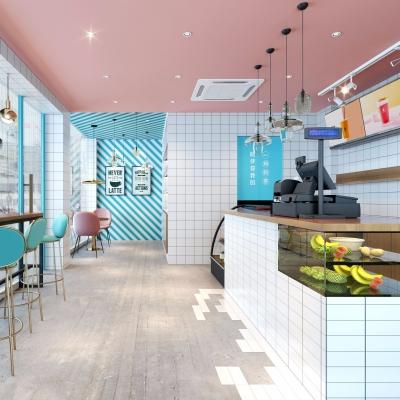 北欧奶茶店3D模型