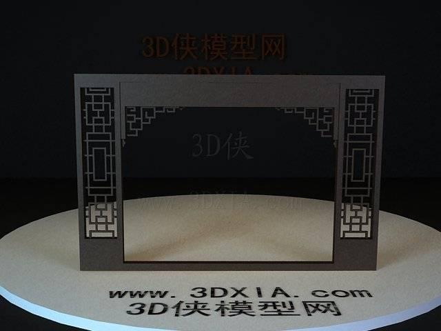 屏風隔斷3D模型下載-35-版本3D8