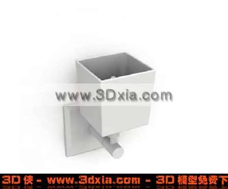 简单的现代壁灯3D模型