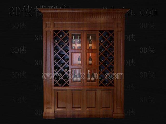 酒柜3D模型下载-版本8-92