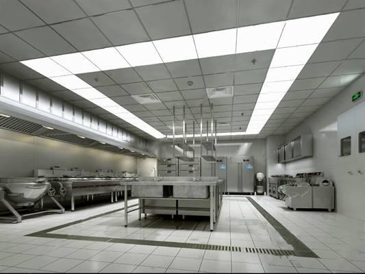 酒店厨房3D模型下载