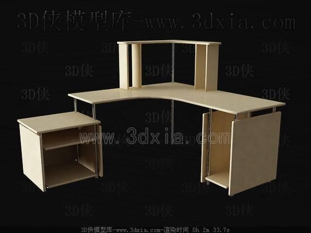 办公桌3D模型下载-C63-版本max8