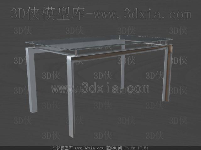 餐桌3D模型下載-C21-版本max9