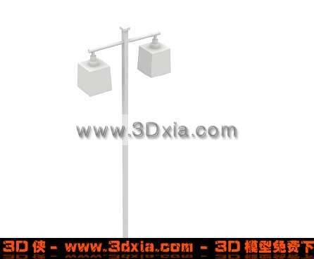 普通常见路灯3D模型下载