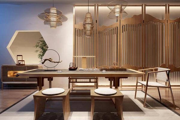中式茶室泡茶桌椅3D模型