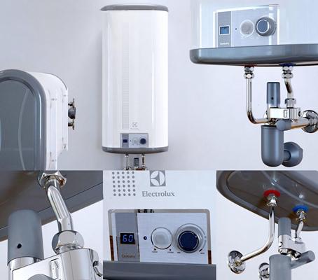 现代热水器3D模型
