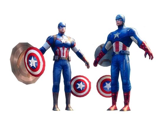 现代美国队长3D模型