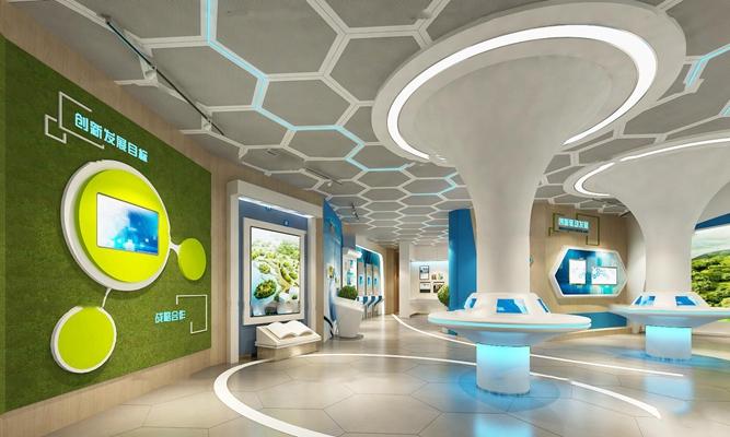 现代城市展示中心 3D模型