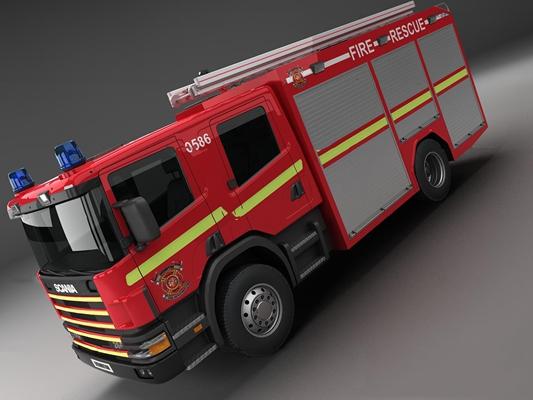 现代119救火车3D模型