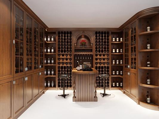 欧式酒窖吧台3D模型