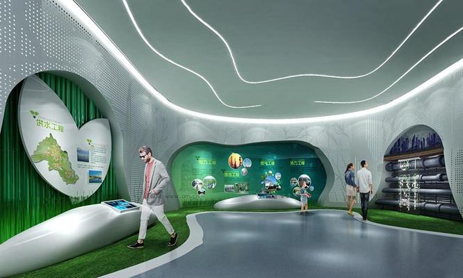 现代智能交通展厅3D模型