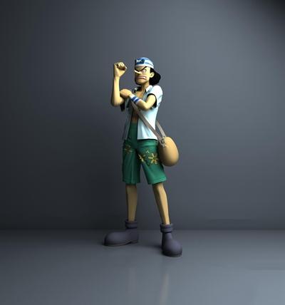 现代海贼王乌索普动漫人物3D模型