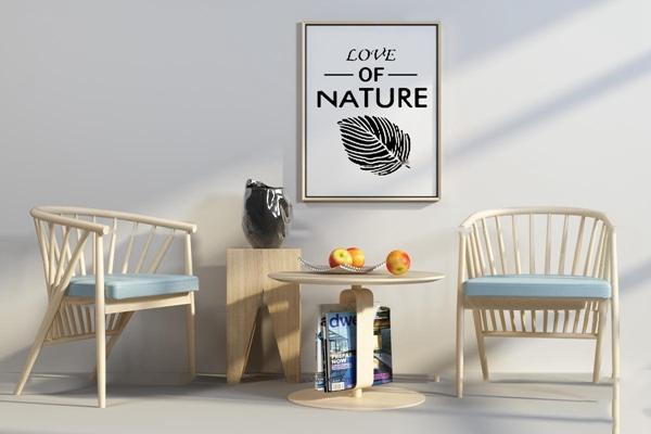 北歐休閑桌椅組合3d模型
