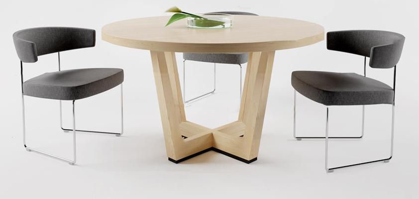 现代休闲桌椅3D模型