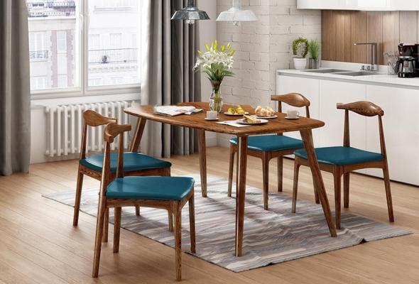 北欧小清新餐桌椅装饰组合3d模型