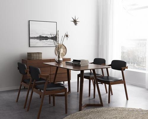 北歐餐桌椅組合3d模型