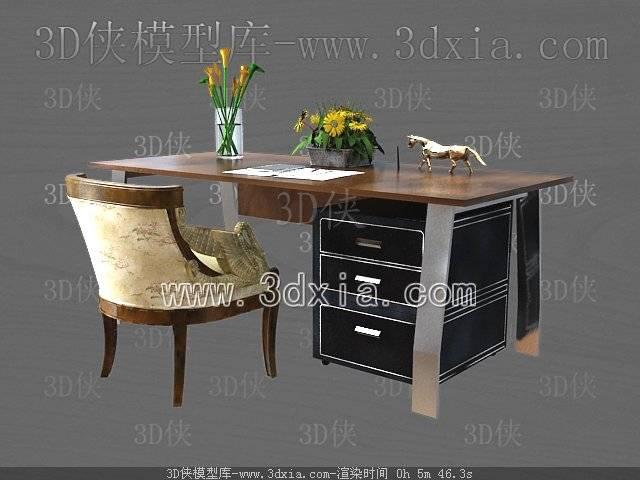 办公桌3D模型-版本2009-164