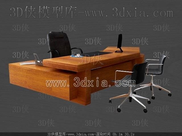 办公桌3D模型-版本2009-47