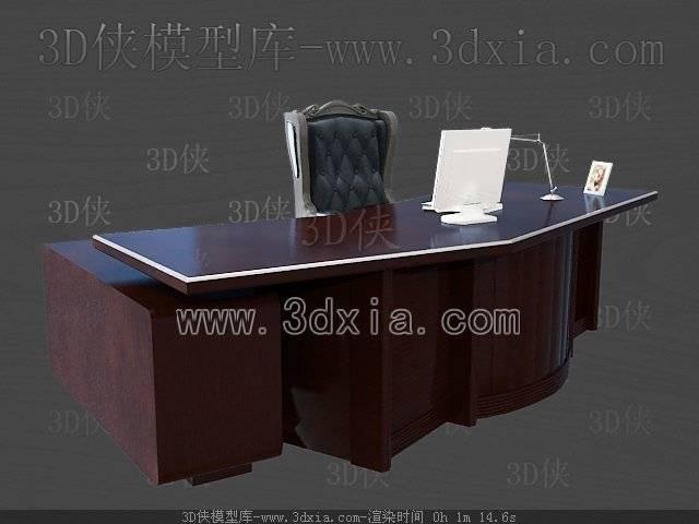 办公桌3D模型-版本2009-a203