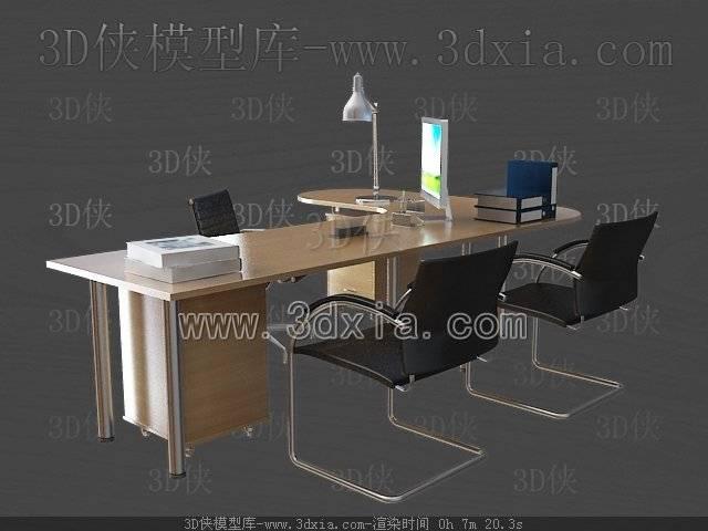 办公桌3D模型-版本2009-a3464