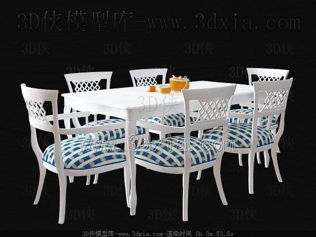 餐桌3D模型-版本2009-a3140