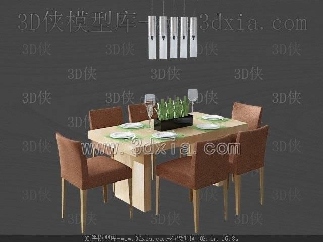 餐桌3D模型-版本2009-a4158