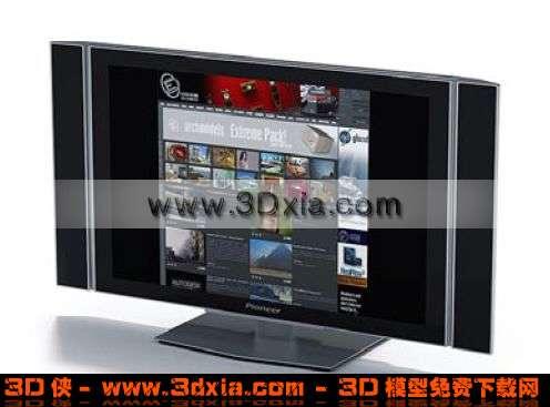 大尺寸宽屏液晶显示器3D模型