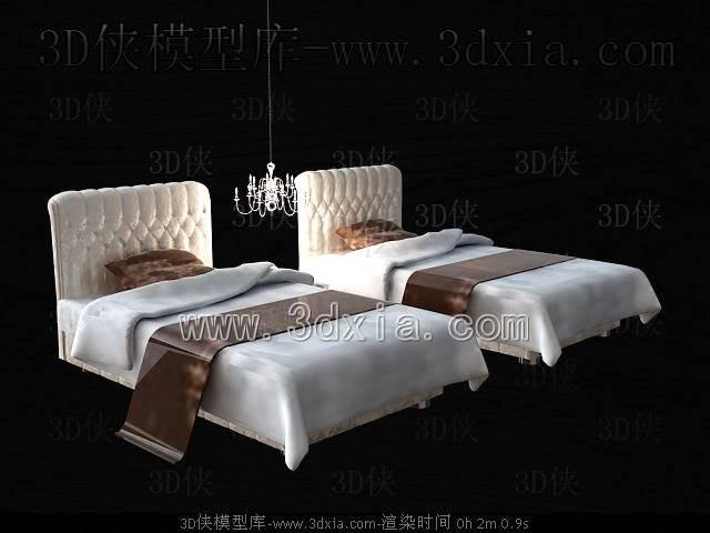 单人床3D模型-版本2009-355