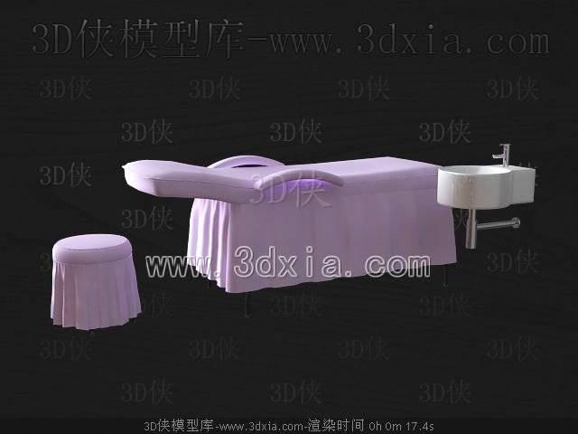 单人床3D模型-版本2009-56