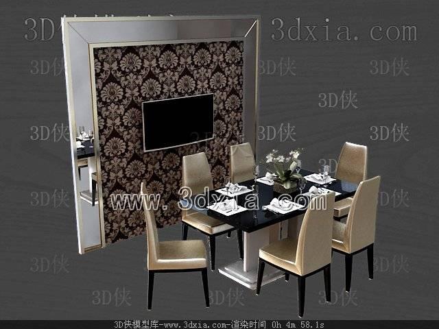 餐桌3D模型-版本2009-18