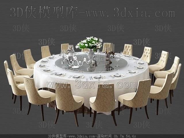 餐桌3D模型-版本2009-271