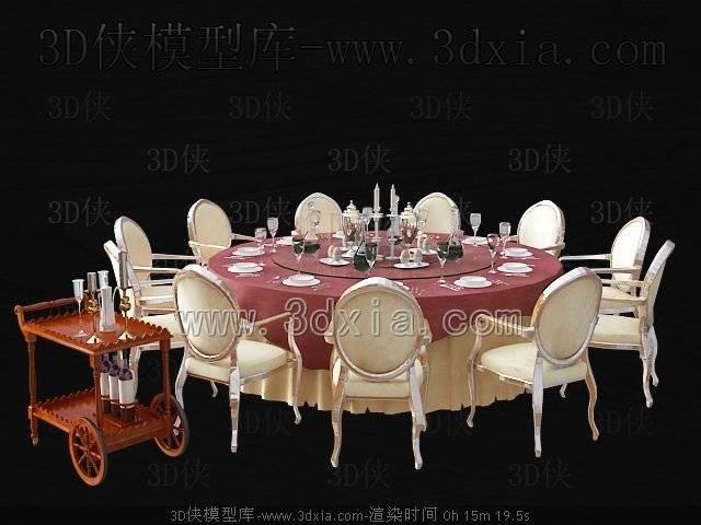 餐桌3D模型-版本2009-364
