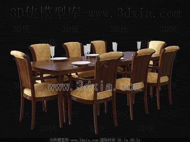 餐桌3D模型-版本2009-391