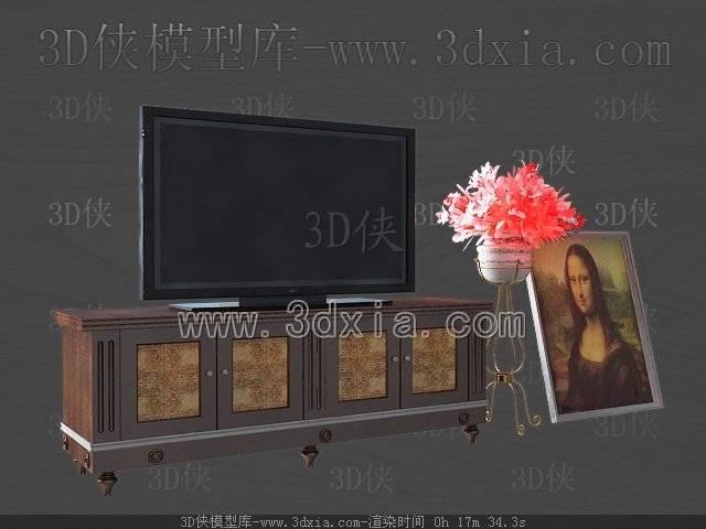 电视柜3D模型-版本2009-109